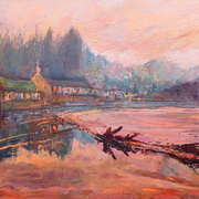 Art 'Entering Glanmire Cork. Sundown'