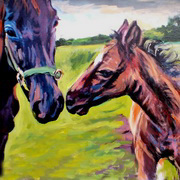 Art 'Mare And Foal'