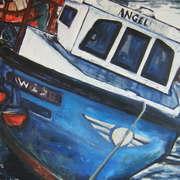 Blue Boat at Fenit